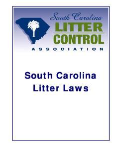 South Carolina Litter Laws