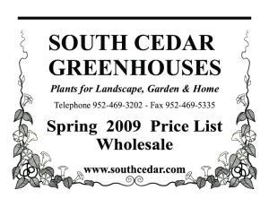 SOUTH CEDAR GREENHOUSES