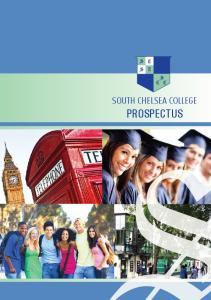 south chelsea college prospectus