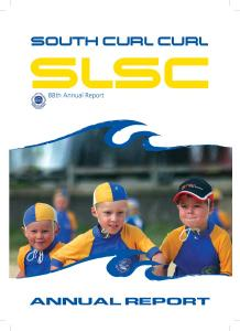 South Curl Curl. slsc. 88th Annual Report ANNUAL REPORT