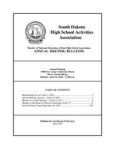 South Dakota High School Activities Association