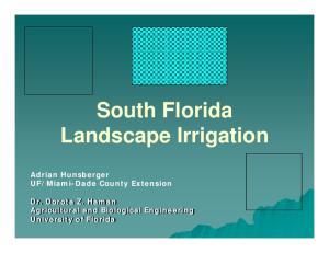 South Florida Landscape Irrigation