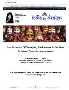 South India - Of Temples, Backwaters & the Seas