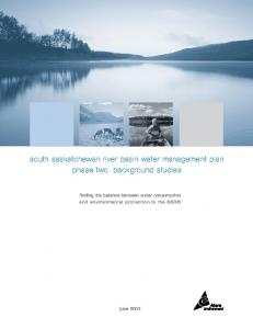 south saskatchewan river basin water management plan phase two: background studies