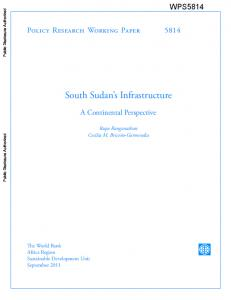 South Sudan s Infrastructure