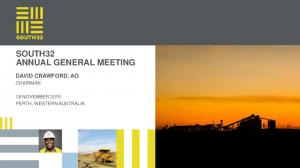 SOUTH32 ANNUAL GENERAL MEETING