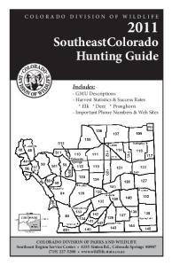 SoutheastColorado Hunting Guide