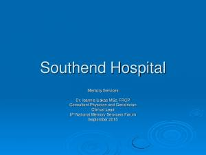Southend Hospital. Memory Services