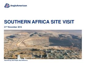 SOUTHERN AFRICA SITE VISIT