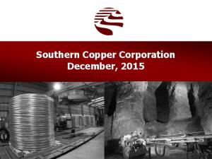 Southern Copper Corporation December, 2015