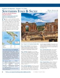 SOUTHERN ITALY & SICILY 15 days for $6,187 total t price from San Francisco