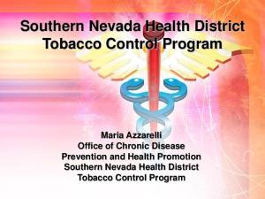 Southern Nevada Health District Tobacco Control Program