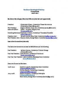 Southern Sociological Society Committees