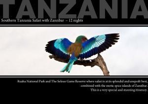 Southern Tanzania Safari with Zanzibar 12 nights