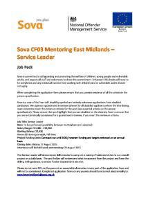 Sova CF03 Mentoring East Midlands Service Leader