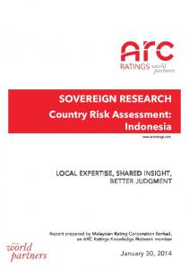 SOVEREIGN RESEARCH.. Country Risk Assessment:.. Indonesia