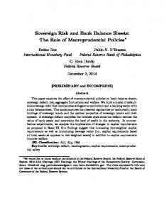 Sovereign Risk and Bank Balance Sheets: The Role of Macroprudential Policies