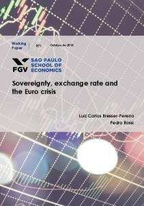 Sovereignty, exchange rate and the Euro crisis