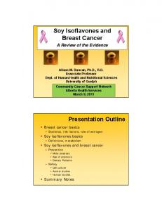 Soy Isoflavones and Breast Cancer