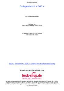 Sozialgesetzbuch V: SGB V