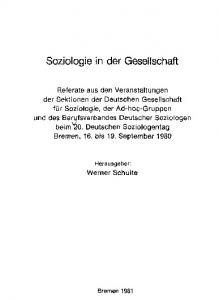 Soziologie in der Gesellschaft