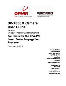 SP-1550M Camera User Guide
