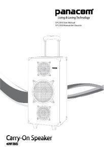 SP-2310 Manual del Usuario. SP-3410 Manual del Usuario