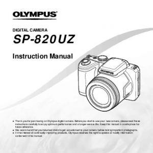 SP-820UZ. Instruction Manual DIGITAL CAMERA