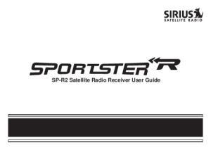 SP-R2 Satellite Radio Receiver User Guide