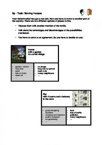 Sp - Task: Moving houses