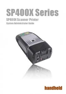 SP400X Series. SP400X Scanner Printer. System Administrator Guide