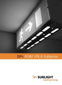 SPA AGM VRLA batteries