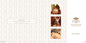 SPA MENU. Presidente InterContinental Cozumel Resort and Spa. Cover. Back Cover