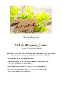 SPA & Wellness folder