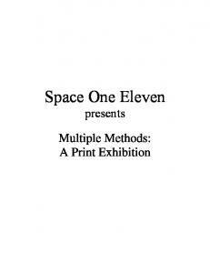 Space One Eleven presents. Multiple Methods: A Print Exhibition