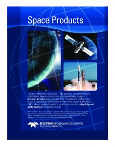Space Products TELEDYNE MICROWAVE SOLUTIONS TM