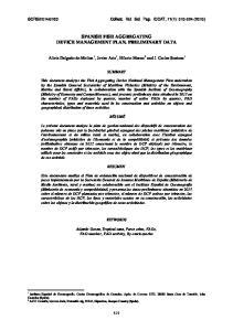 SPANISH FISH AGGREGATING DEVICE MANAGEMENT PLAN. PRELIMINARY DATA