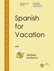 Spanish for Vacation