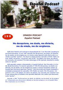 SPANISH PODCAST. Español Podcast. Me decepciona, me duele, me divierte, me da miedo, me da vergüenza