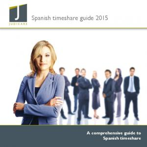 Spanish timeshare guide A comprehensive guide to Spanish timeshare