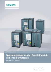 Spannungsregelung im Parallelbetrieb von Transformatoren
