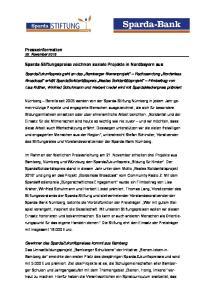 Sparda-Stiftungspreise zeichnen soziale Projekte in Nordbayern aus