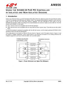 SPARE PAIR SIGNAL PAIR SIGNAL PAIR 7 SPARE PAIR. Figure 1. Power Delivered over Spare Pair (Midspan)