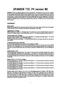 SPARKER TCI-P4 version 80