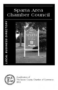 Sparta Area Chamber Council LOCAL BUSINESS DIRECTORY