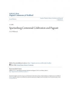 Spartanburg Centennial Celebration and Pageant