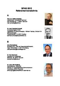 SPAS 2012 Referentenverzeichnis