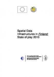Spatial Data Infrastructures in Finland: State of play 2010