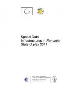 Spatial Data Infrastructures in Romania: State of play 2011