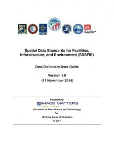 Spatial Data Standards for Facilities, Infrastructure, and Environment (SDSFIE)